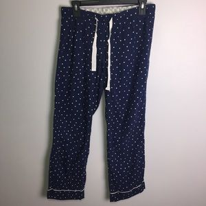 J. Crew Factory Navy Polka Dot Pajama Pants Size S
